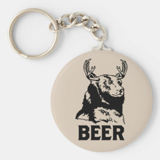 Bear + Deer = Beer Keychains