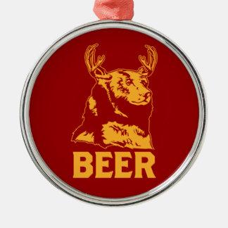 Bear + Deer Beer Christmas Tree Ornaments