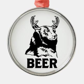 Bear + Deer Beer Christmas Ornaments