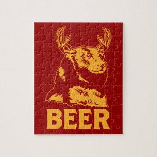 Bear + Deer = Beer Jigsaw Puzzle