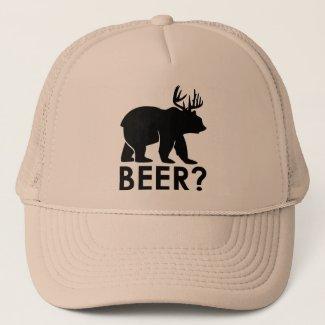 Bear + Deer = Beer? trucker hat
