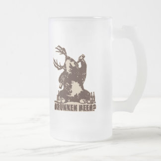 Bear, deer, drunken beer? frosted glass beer mug