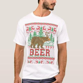 Bear Deer or Beer Christmas Jumper Knitting T-Shirt