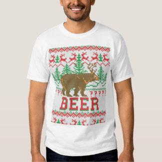 Bear Deer or Beer Christmas Jumper Knitting Tees
