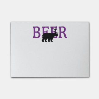 Bear Deer or Beer Icon Style Post-it Notes