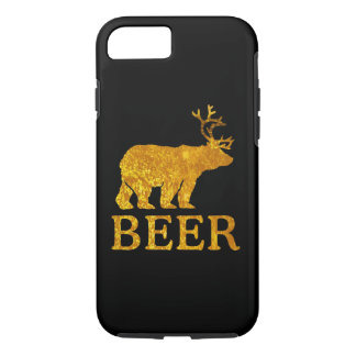 Bear Deer or Beer Silhouette Graphic iPhone 8/7 Case