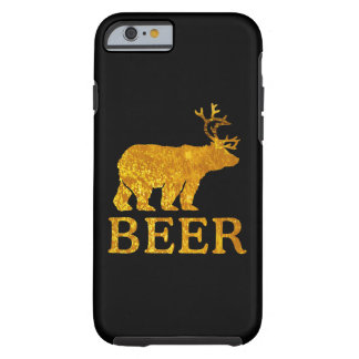Bear Deer or Beer Silhouette Graphic Tough iPhone 6 Case