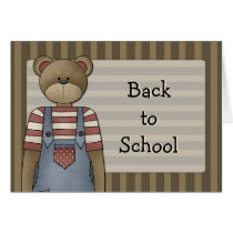 Bear Design - Back to School Card