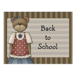 Bear Design - Back to School Postcard