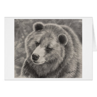 Bear Design on Blank Note Cards