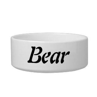 Bear Dog Bowl