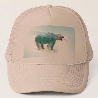 Bear double exposure - polar bear - bear art trucker hat