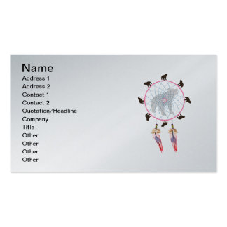 Bear Dream Catcher Double-Sided Standard Business Cards (Pack Of 100)