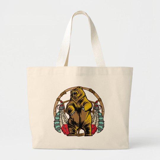 Bear Dreamcatcher Large Tote Bag