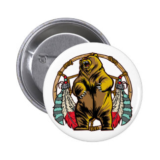 Bear Dreamcatcher Pinback Button