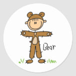 Bear Dress Up Tshirts and Gifts Round Stickers