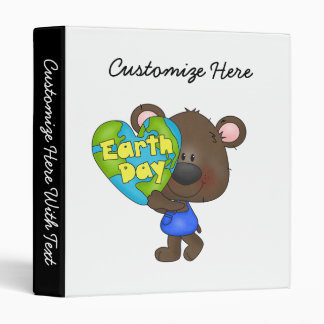 Bear Earth Day 3 Ring Binder