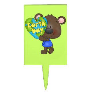 Bear Earth Day Cake Picks