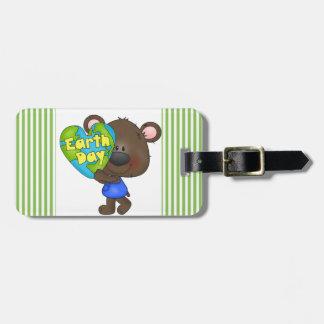 Bear Earth Day Luggage Tag