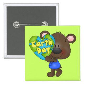 Bear Earth Day Pinback Button