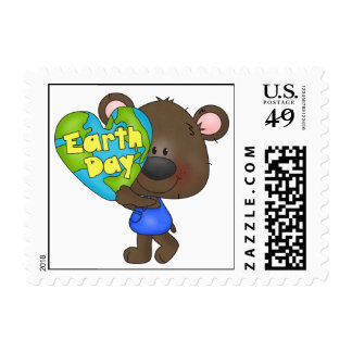 Bear Earth Day Stamp