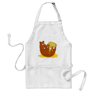 Bear eating from a beehive adult apron
