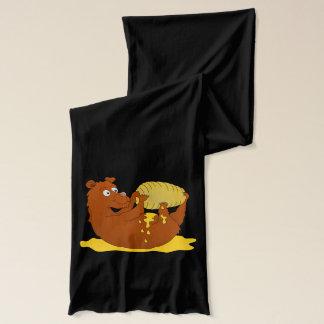 Bear eating from a beehive scarf