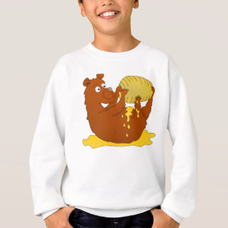 Bear eating from a beehive sweatshirt