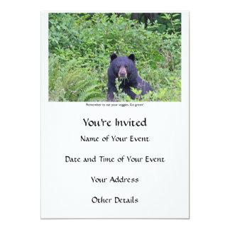 Bear Eating His Veggies Card