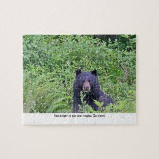 Bear Eating His Veggies Jigsaw Puzzle
