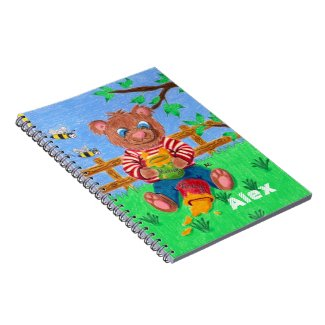 cartoon bear kid notebook