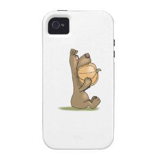 Bear Eating Pumpkin Case-Mate iPhone 4 Covers