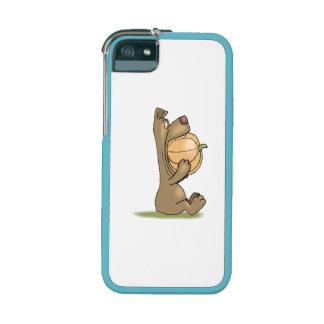 Bear Eating Pumpkin Case For iPhone 5/5S