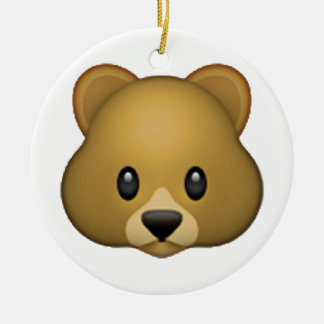 Bear - Emoji Ceramic Ornament
