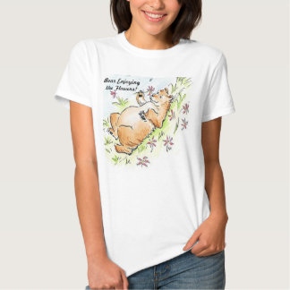 Bear Enjoying the Flowers T-Shirt