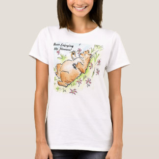 Bear Enjoying the Flowers T-Shirt