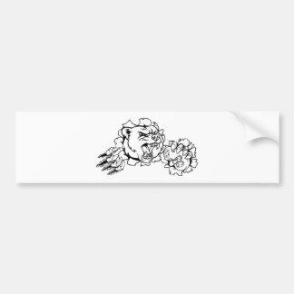 Bear Esports Mascot Bumper Sticker