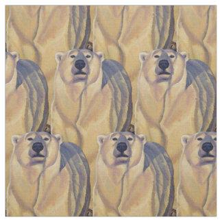 Bear Fabric Polar Bear Art Fabric Customizable