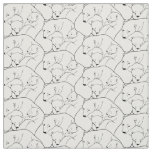Bear Fabric Polar Bear Art Fabric Mother & Cubs