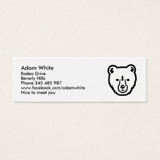 Bear face head mini business card