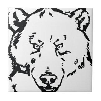 Bear face outline tiles