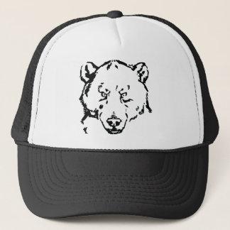 Bear face outline trucker hat