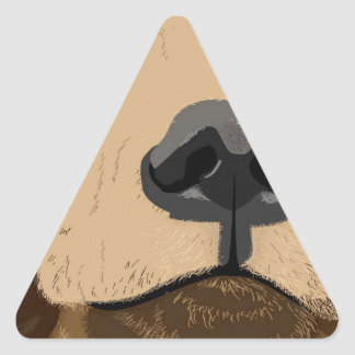 Bear face triangle sticker