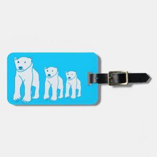 Bear Family Luggage Tag