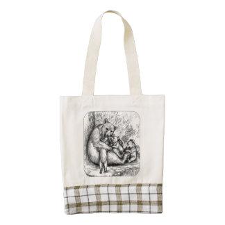Bear Family Zazzle HEART Tote Bag