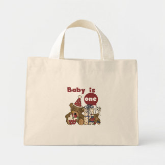 Bear First Birthday Red Tshirts and Gifts Mini Tote Bag