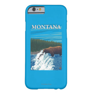 Bear Fishing in River - Montana Barely There iPhone 6 Case