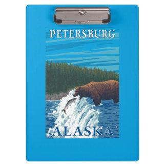 Bear Fishing in River - Petersburg, Alaska Clipboard