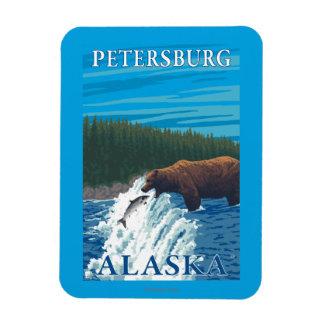 Bear Fishing in River - Petersburg, Alaska Rectangular Photo Magnet