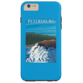 Bear Fishing in River - Petersburg, Alaska Tough iPhone 6 Plus Case